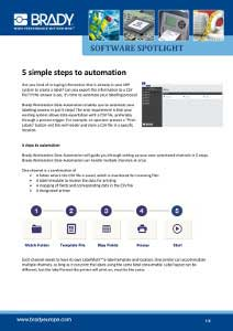 Spotlight 5 simple steps to automation - English